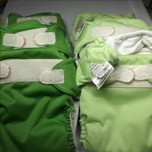 Six Cloth Diapers / Pocket Diapers, Bum Genius